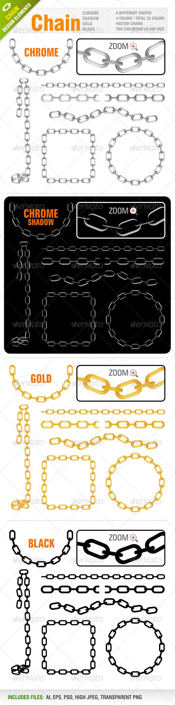 GraphicRiver Chain Vector Set 4083662