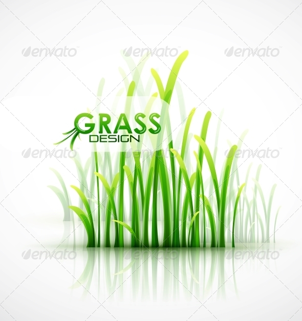 GraphicRiver Vector Grass Background 4083689