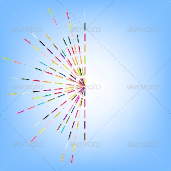 GraphicRiver Vector Illustration of Colored Pencils 4083812