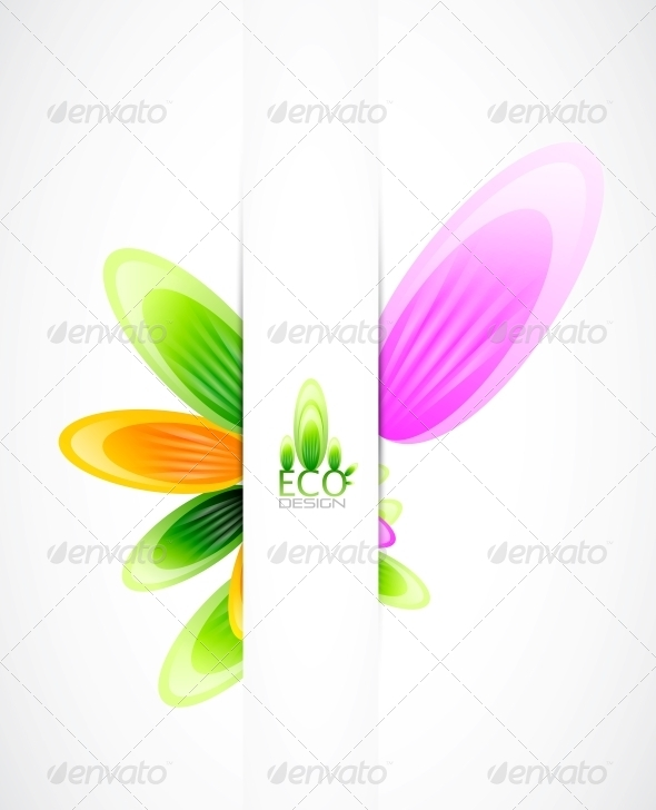 GraphicRiver Abstract Flowers Vector Background 4083885