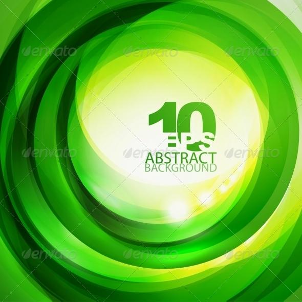 GraphicRiver Green Bright Swirl Background 4083917
