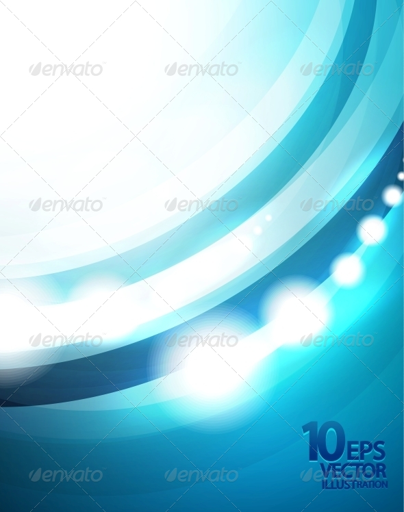 GraphicRiver Blue Wave Vector Background 4083942