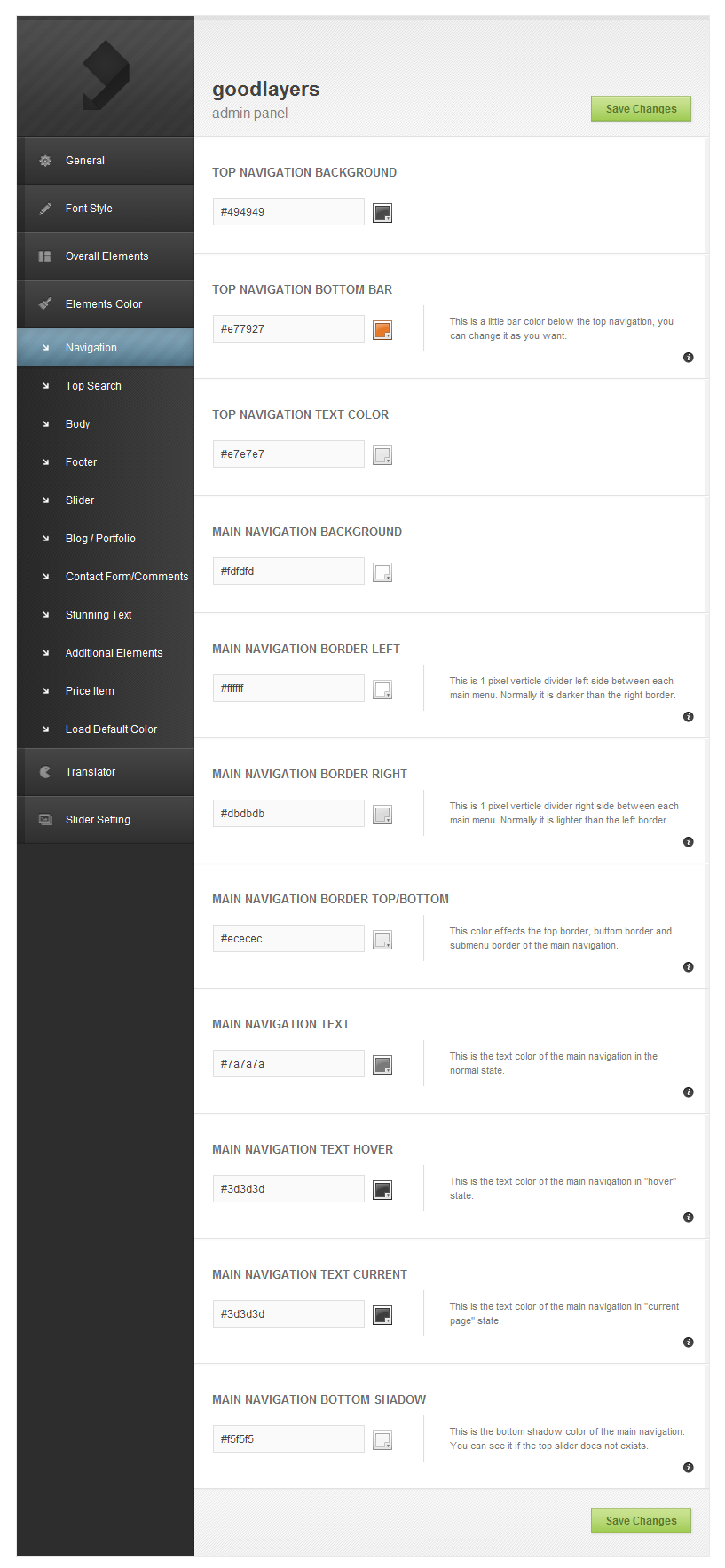 Modernize - Flexibility of Wordpress - adminpanel