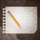Pencil on a Blank Notepad - GraphicRiver Item for Sale