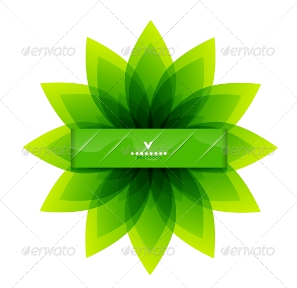 GraphicRiver Green Leaves Nature Design 4084417