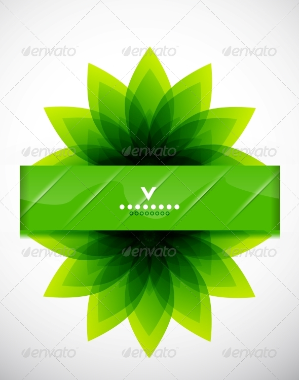 GraphicRiver Green Leaves Nature Design 4084447