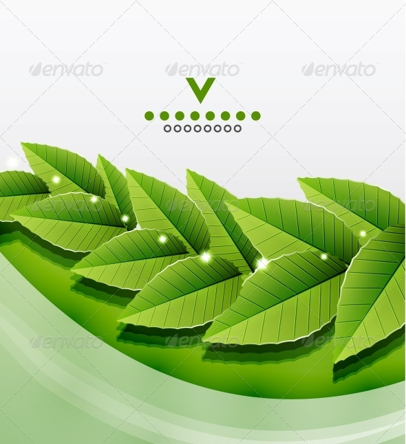 GraphicRiver Green Leaves Nature Design 4084667