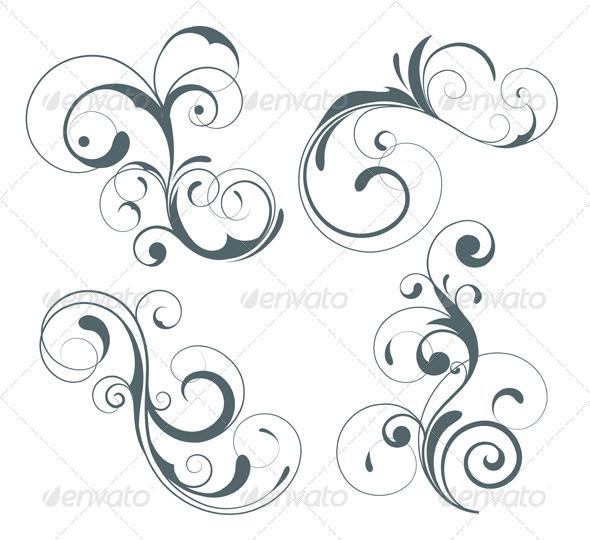 GraphicRiver Floral Decorative Elements 4084722