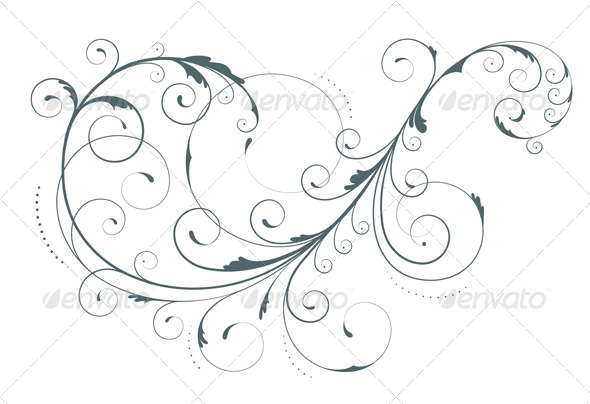 GraphicRiver Floral Decorative Element 4085125