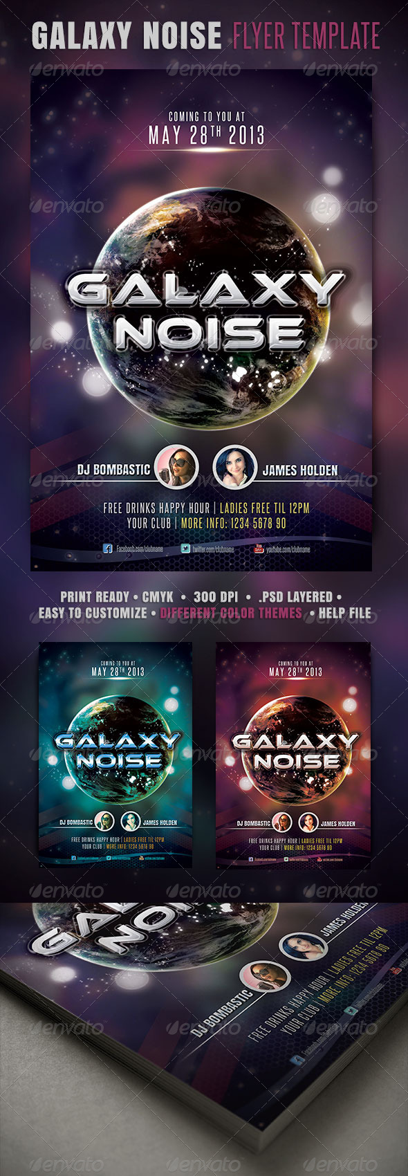 GraphicRiver Galaxy Noise Flyer 4085575