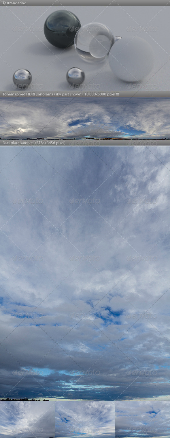 3DOcean HDRI spherical sky panorama 1024- storm clouds 4085797
