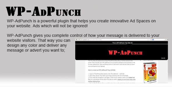 CodeCanyon Wordpress Plugin WP-AdPunch 4085803