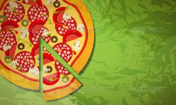 GraphicRiver Pizza Vector Illustration 4086038