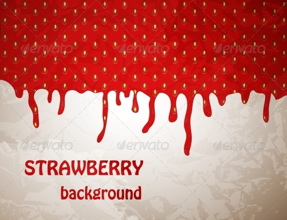 GraphicRiver Fresh Strawberry Background Vector Illustration 4086051