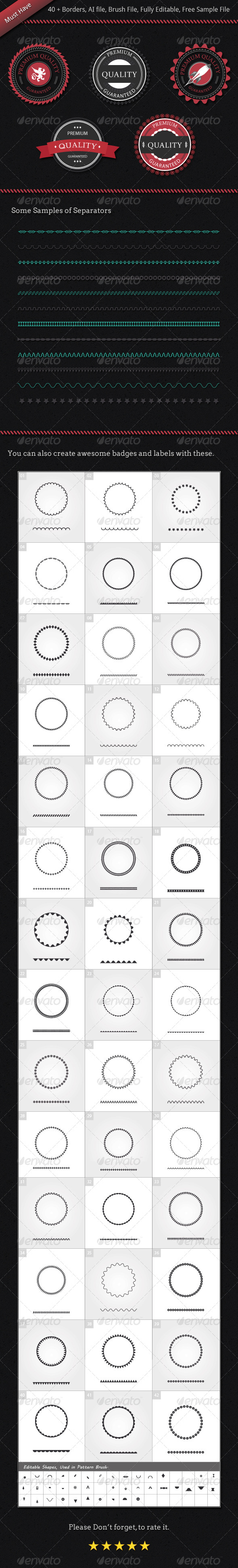 GraphicRiver Set Of Borders For Badges Labels And Separators 4086067