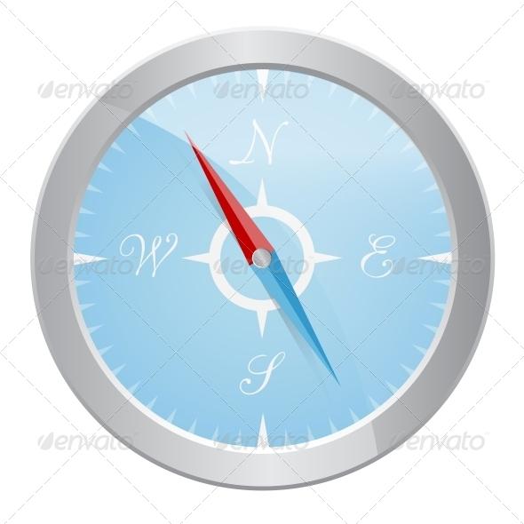 GraphicRiver Design of Silver Compass 4086127
