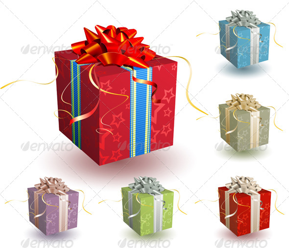 GraphicRiver Gift Boxes 4086214