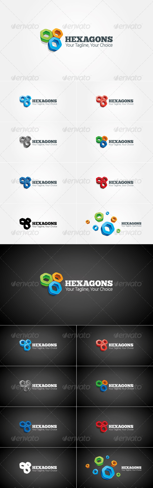 GraphicRiver Hexagon Logo Template 4013225