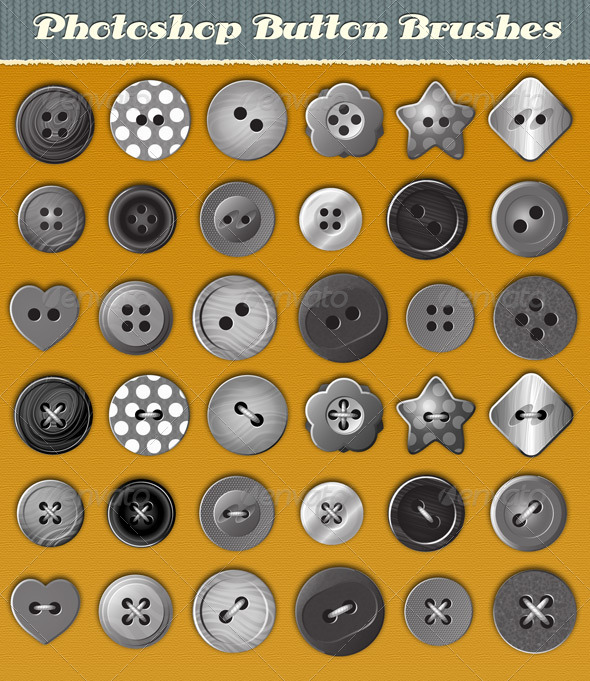 GraphicRiver Button Brushes 4086529