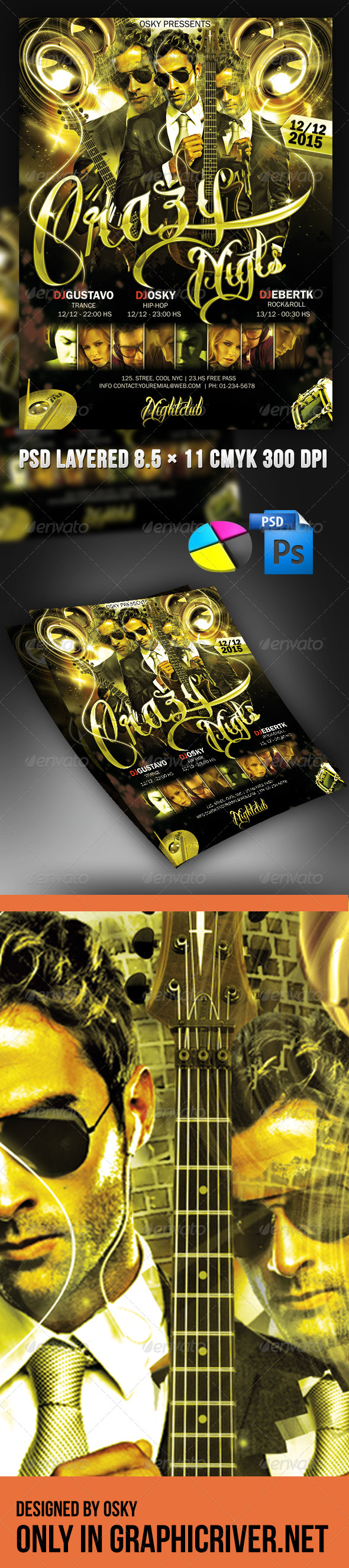 GraphicRiver Crazy Night 3889396