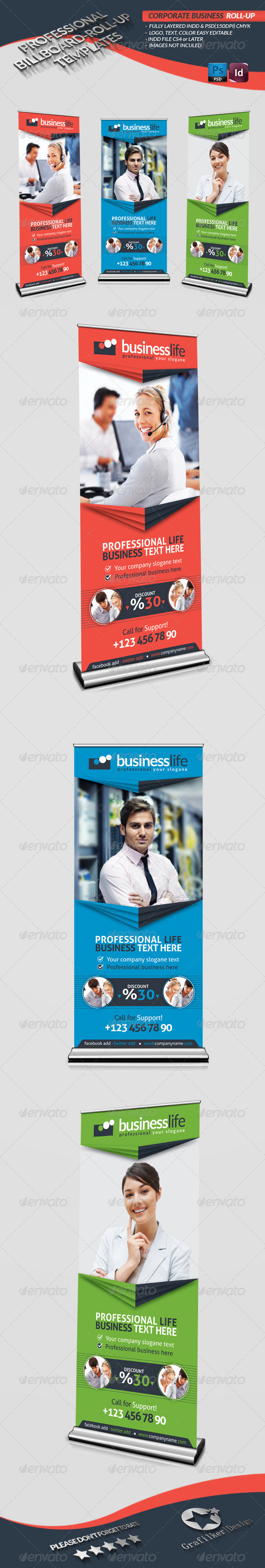 GraphicRiver Corporate Business Roll-Up 4086602
