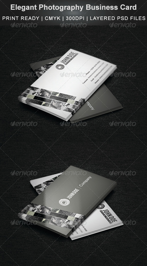 GraphicRiver Elegant Photography Business Card 4086852