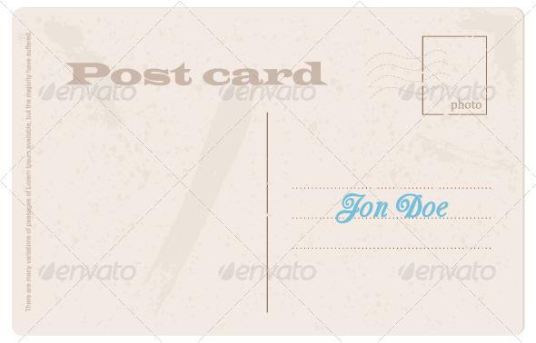 GraphicRiver Post Card 4086881