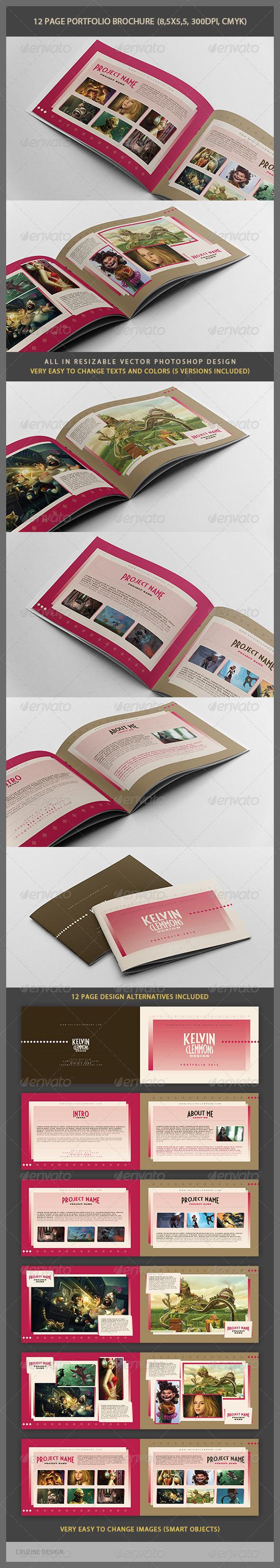 12 Page Portfolio Brochure - Portfolio Brochures