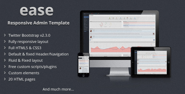 ease - Responsive Admin Template