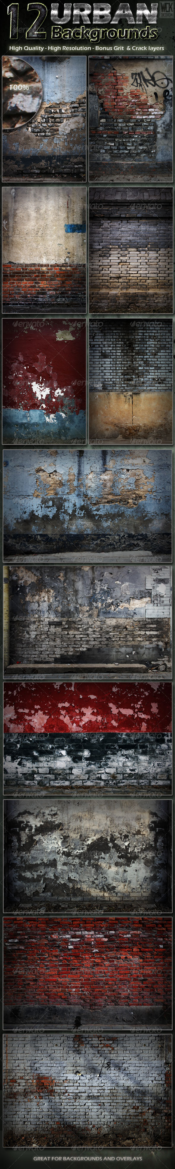 12 Distressed Urban Backgrounds - Urban Backgrounds