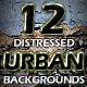 12 Distressed Urban Backgrounds - GraphicRiver Item for Sale