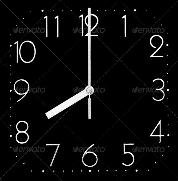 PhotoDune Black clock 4088366