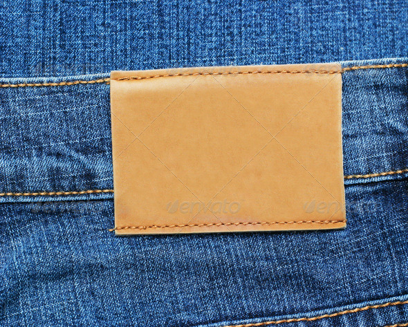 PhotoDune Blue Jeans Label 4088369