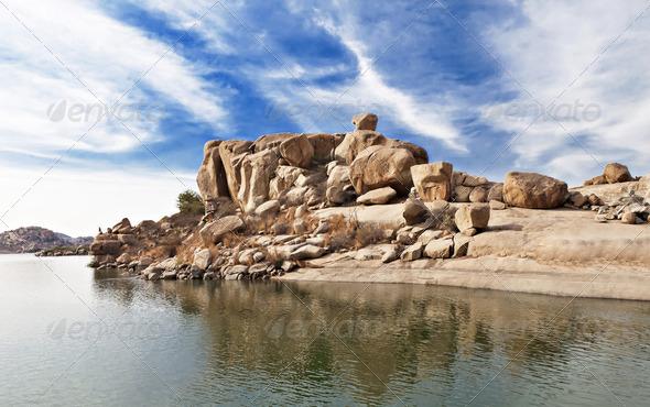 PhotoDune Beauty lake in Hampi 4088376