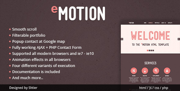 ThemeForest EMotion HTML Template 4071515