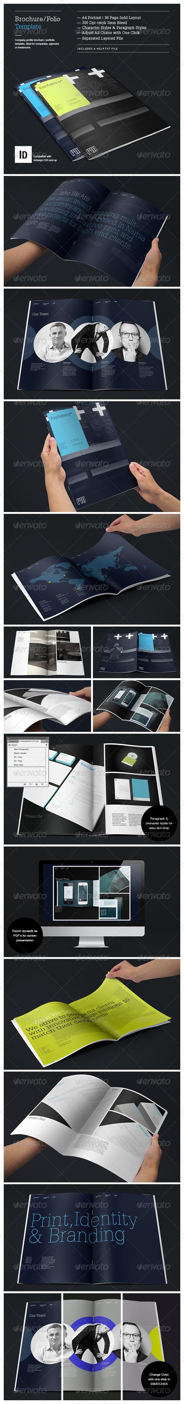 GraphicRiver Brochure Portfolio Template 3979087
