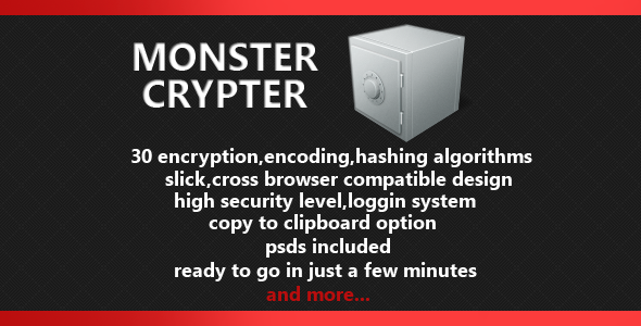 CodeCanyon Monster Crypter Crypting&Encoding Script 4087506