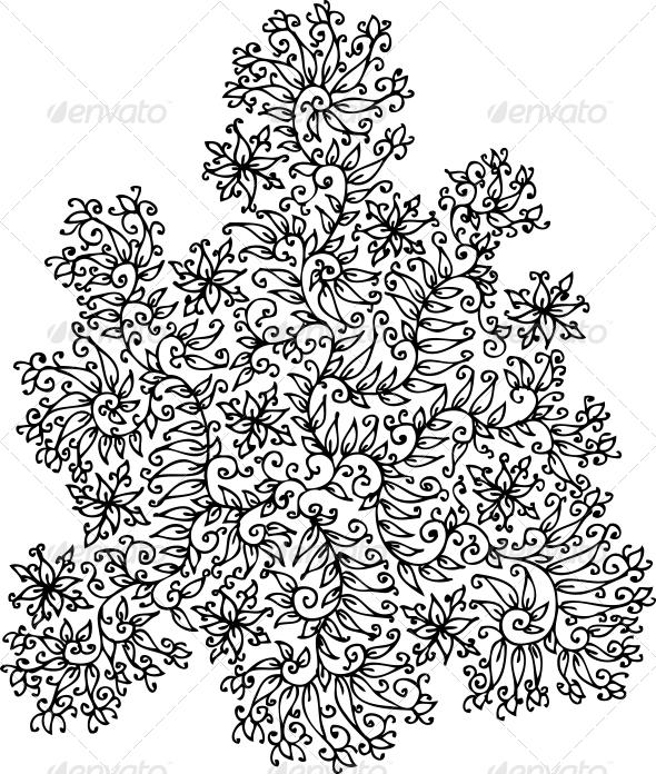 GraphicRiver Refined Floral vignette XXVII 4087575