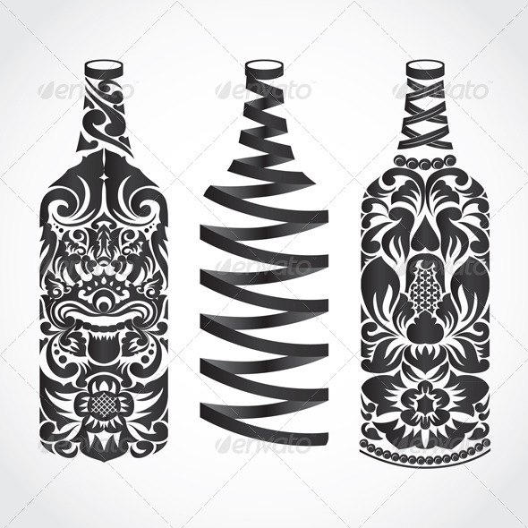 GraphicRiver Bottle Ornament 4087711