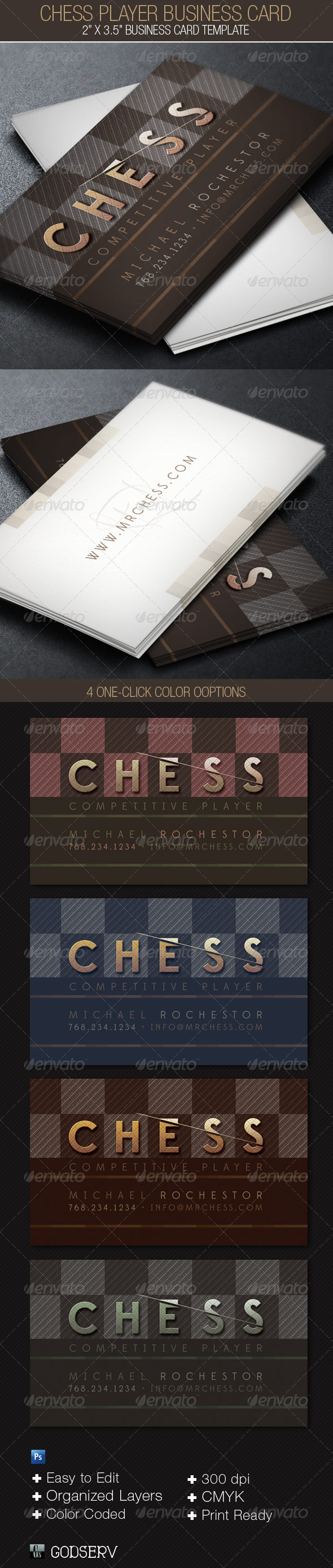 GraphicRiver Chess Player Business Card Template 4089414