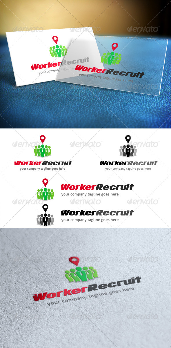GraphicRiver Worker Recruit Logo 4089705