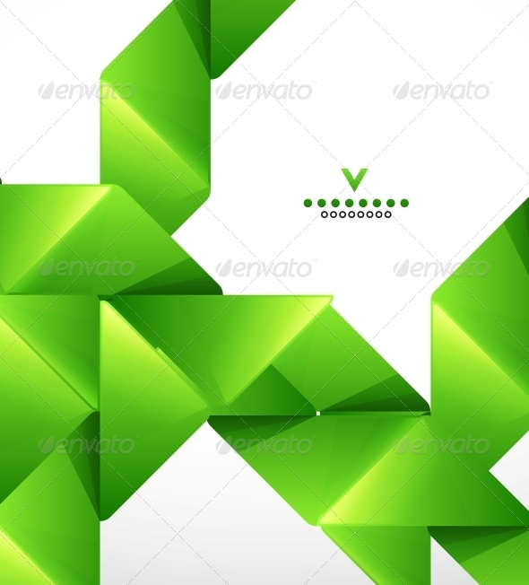 GraphicRiver Green Paper Stripes Modern Template 4089706