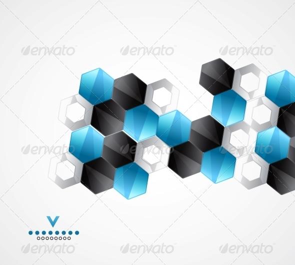Modern Hexagons Geometrical Design Template