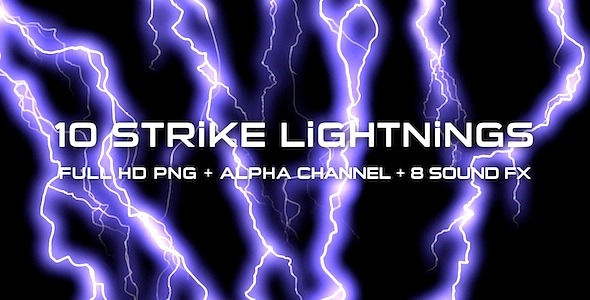 Strike Lightnings Pack of 10