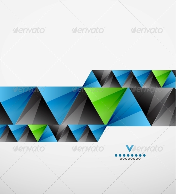 GraphicRiver Modern Geometric Triangles Background 4090113