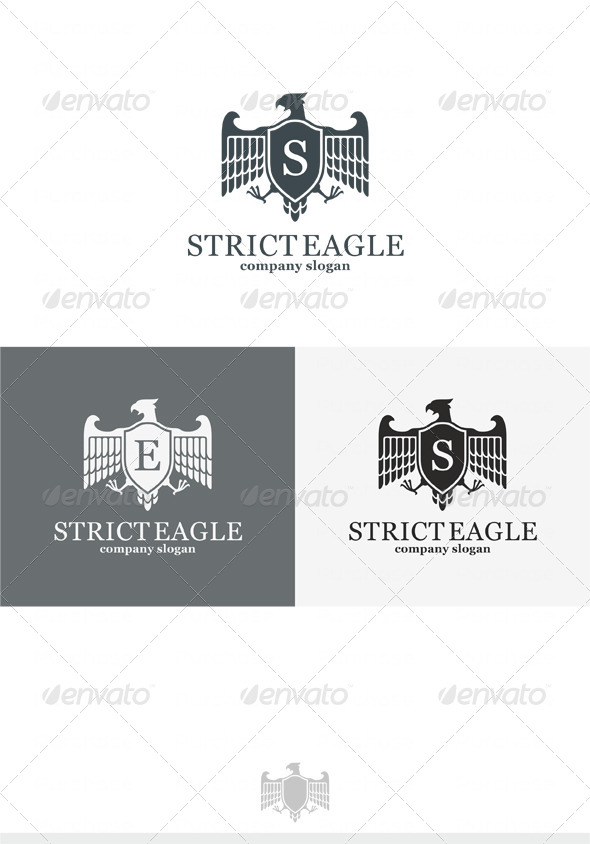 Strict Eagle Logo - Crests Logo Templates