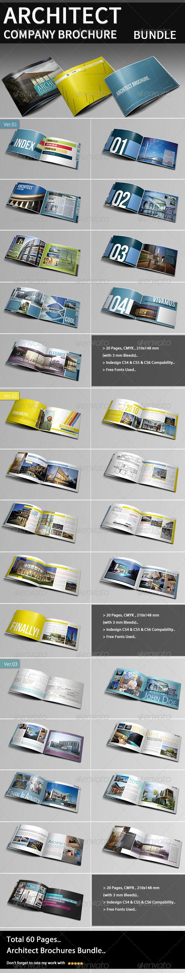 GraphicRiver Architect Company Brochure Bundle 4090990
