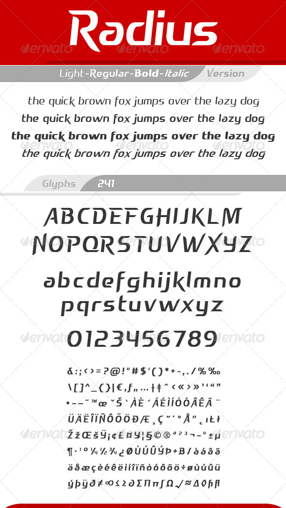 GraphicRiver Radius Font 4091509