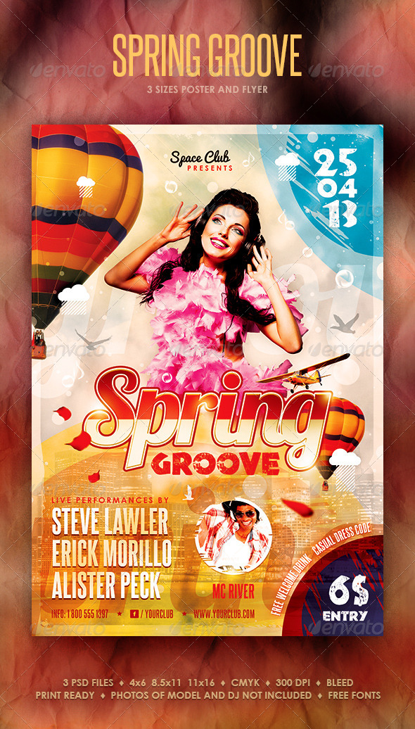 GraphicRiver Spring Groove Poster and Flyer 4092131