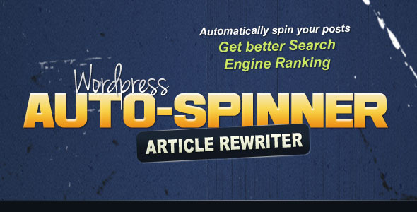 CodeCanyon Wordpress Auto Spinner Articles Rewriter 4092452